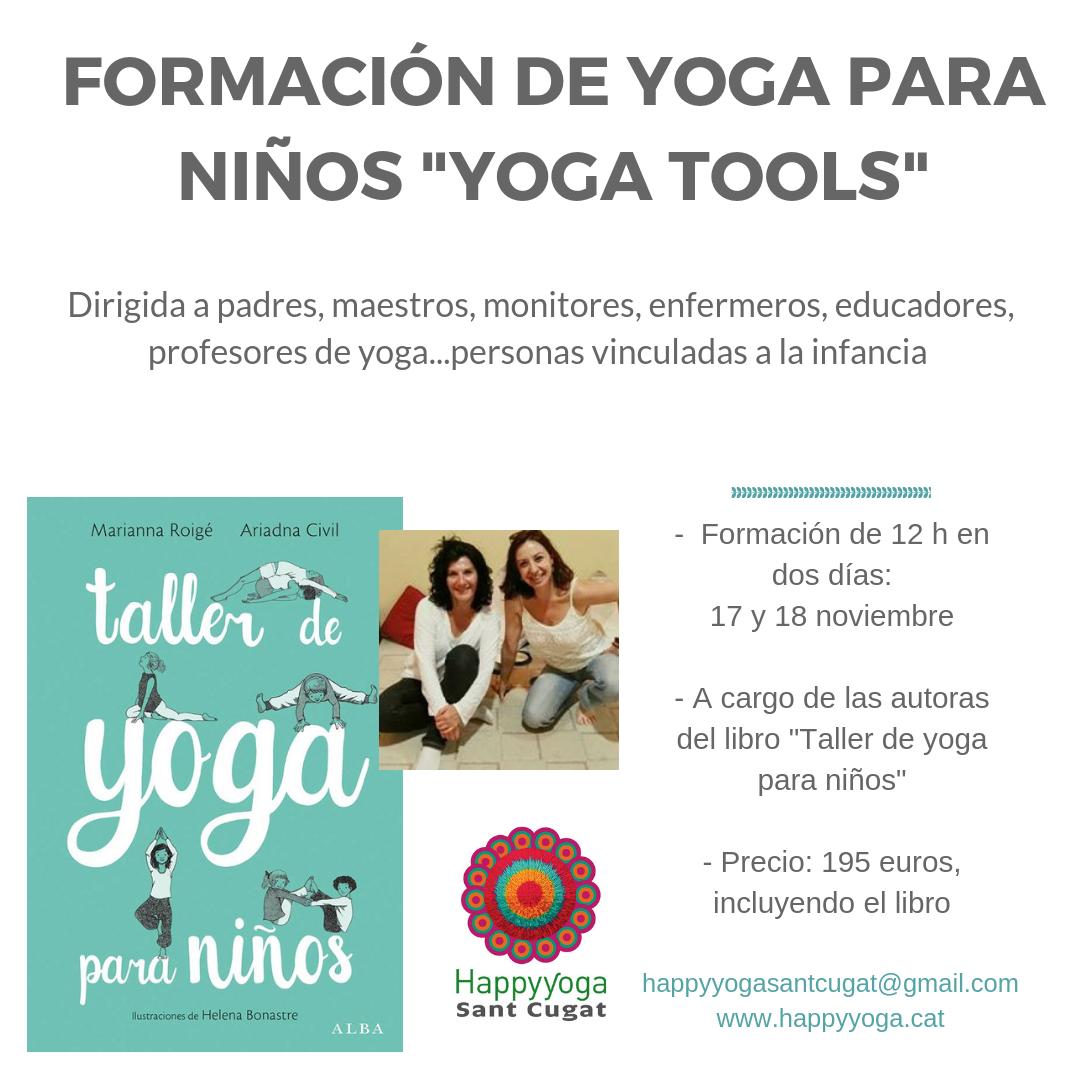 cartel taller yoga tools