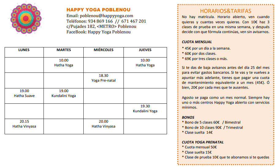 horario-Happy-Yoga-Poblenou-2017