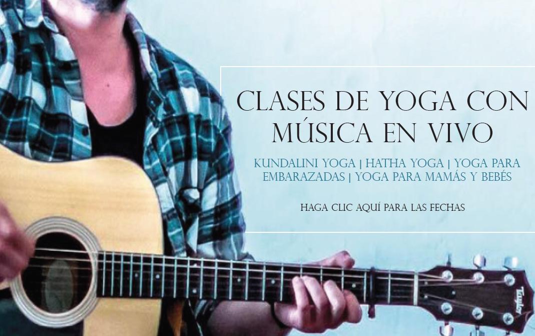 Classe de yoga con música en vivo